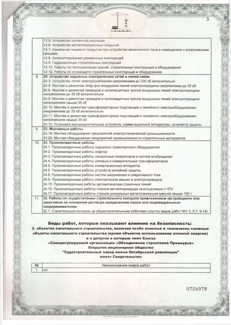 Свидетельство Союз СРО Обьединение строителей Приамурья_3